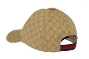 bcc1c4551aa NEW Gucci Men s 387578 Nylon GG Guccissima Web Stripe Baseball Cap ...