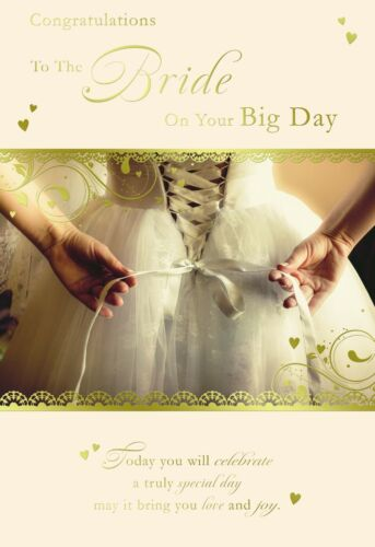 FOR THE BRIDE ON YOUR WEDDING DAY CARD ~ NICE CARD ~ LOVELY VERSE