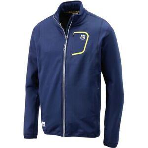 Sweat Husqvarna Poliᄄᆭster Logo Jacket Nuevo Zip Basic Blue nn76Rx1
