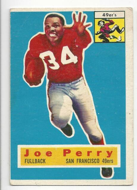 Joe Perry 1956 Topps NFL Football Trading Card # 110 San Fran 49ers