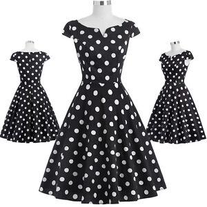 vintage frauen 50er jahre 60er jahre polka dots v. Black Bedroom Furniture Sets. Home Design Ideas