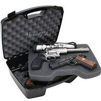 Pistol Box 4 Handgun 8 Barrel Large Hard Case Paintball Revolver Gun Storage