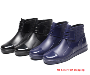 Men-039-s-Restaurant-Oil-Resistant-Kitchen-Work-Shoes-Non-slip-Water-rain-shoe