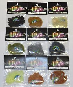 5 Packs Spirit River UV2 Sparkle Yarn for Fly Tying