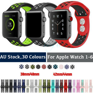 Silicone Nike Sport Strap iWatch Band For Apple Watch 3840/4244mm Series SE 1-6