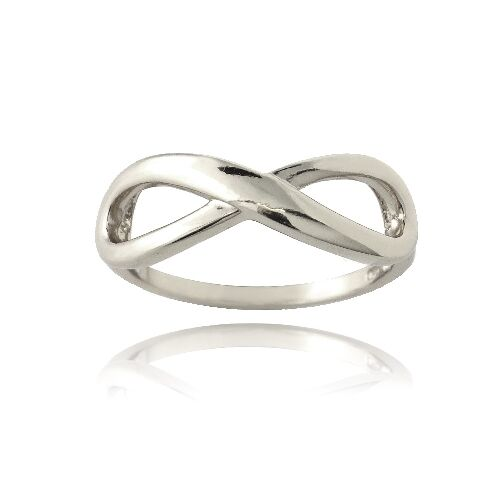 3 Colors Sterling Silver Polished Infinity Ring