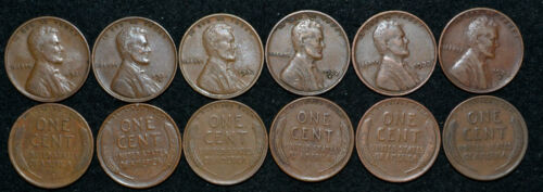 1931-P 1931-D 1932-P 1932-D 1933-P 1933-D***6 Lincoln Cents**all FINE or Better