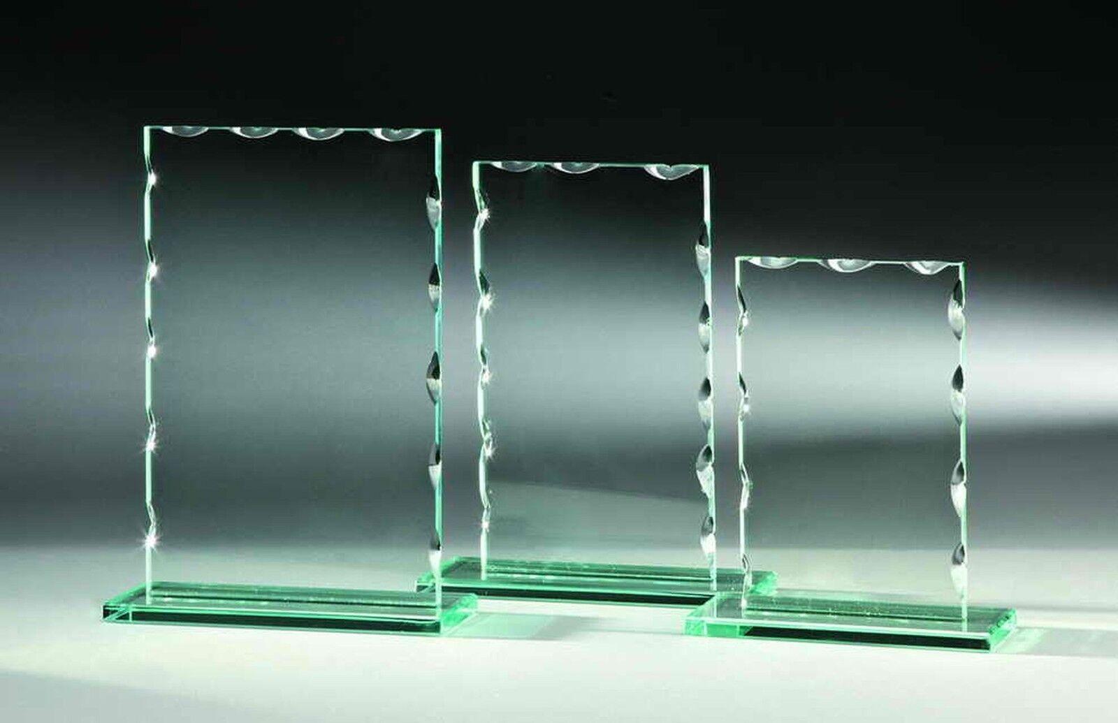 30-vidrio trofeos 6mm olas esmerilado 14x9cm   8 (glaspokale trofeo grabado trofeos)