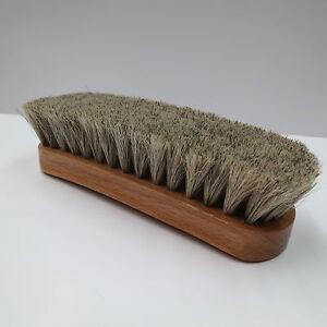 Neutral-Shoe-Shine-Buffing-Brush-100-Horsehair-Horse-Hair-Wood-Handle-Boot