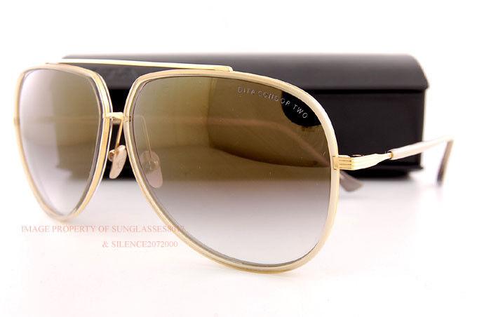 Brandneu Dita Sonnenbrille Condor-Two 21010B Grau Kristall Creme   18K  | Großhandel  | Sorgfältig ausgewählte Materialien  | Schön und charmant