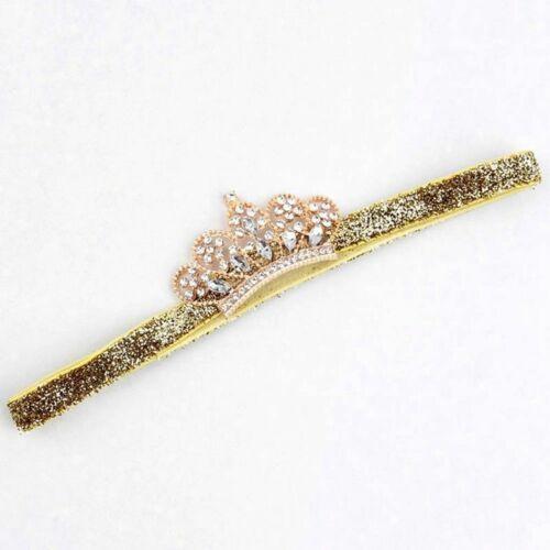 Baby Girl Princess Tiara Pearl Crystal Crown Headband Hair Band Sale Lldty
