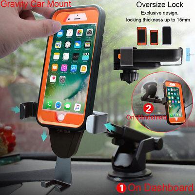 New Car Metal Gravity Dashboard Mount Cradle Holder Bracket For Mobile Phone GPS