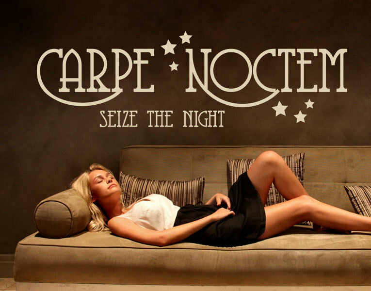 Carpe Noctem II Seize the Night - Highest Quality Wall Decal Stickers