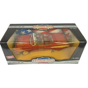 #7490 American Muscle Matador Red '57 Chevy Bel Air Convertible Die Cast 1:18