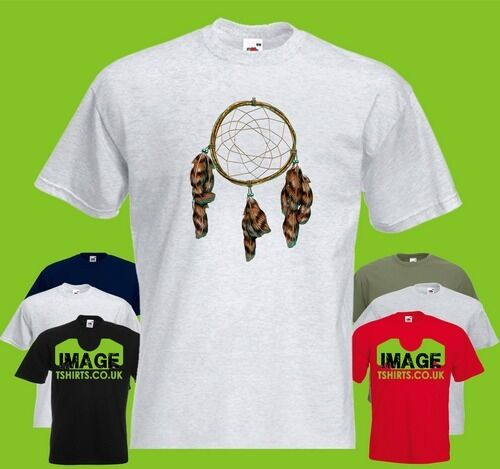 Dreamcatcher Mens PRINTED T-SHIRT Dream Catcher Feathers Feather