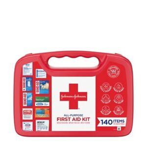Johnson & Johnson All-Purpose Portable Compact First Aid Kit, 140 pc