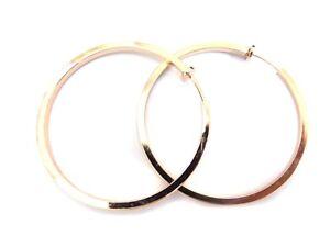 Image Is Loading Clip On Earrings 1 Inch Hoop Shiny