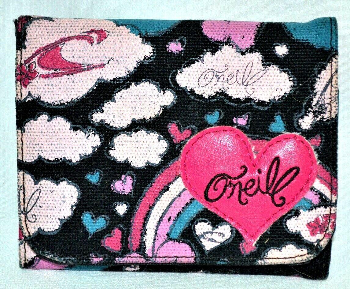 O'NEILL Wallet Women's Bifold Wallet Zipper Coin Pouch Surf Surfing Button Closr