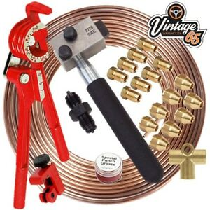 Classic-Mini-Cooper-Clubman-3-8-034-Unf-Brass-Kunifer-Brake-Pipe-Repair-Flaring-Kit