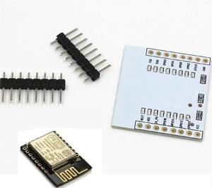 2x ESP-12E ESP8266 Serial Port WIFI Module with IO Adapter Plate Expansion NEW
