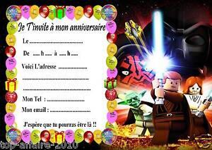 5 Cartes Invitation Anniversaire Lego Star Wars 02 D Autres En Vente