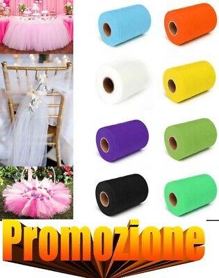 Rotolo Bobina Velo Di Tulle Per Decorazioni Matrimonio Feste 12,5cm X 50m Offert Alta Sicurezza