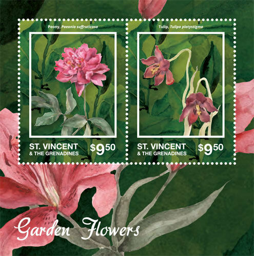 Saint Vincent and the Grenadines I Garden Flowers, 2014 I 1404 S/S MNH