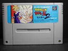 a714 DRAGON BALL Z SUPER BUTOUDEN 2 USED SNES Nintendo Japan F/S Super Famicom