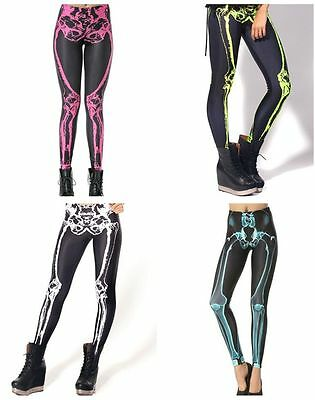 New Muscles Skeleton Galaxy Leggings Punk Pants Gothic Club Yoga Sports Dress