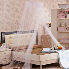 Kid Bed White+Blue A sixx Bed Mosquito Net Girls Bed or Full Size Bed Dual Color 360/° Round Canopy Lace Princess Style Mosquito Net Bed Curtain Netting Use to Cover The Baby Crib