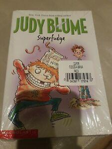 JUDY-BLUME-SUPERFUDGE-AND-FUDGE-A-MANIA-BOOKS-Scholastic-2-pack-Brand-New