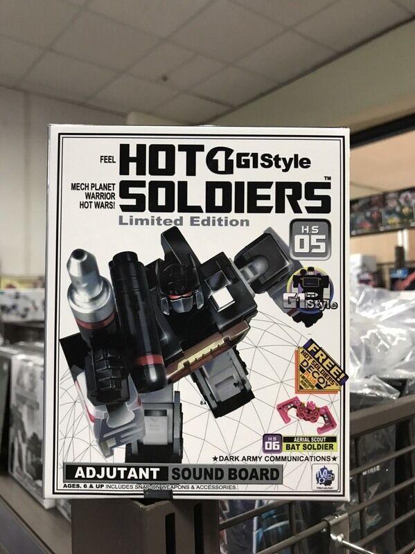 Transformers Hot Soldiers G1Style HS-05 Adjutant Sound board Soundblaster