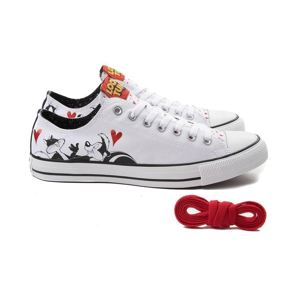 Nuovo Converse Chuck Taylor All Star lo Looney Tunes Pepe le Pew scarpe da ginnastica Bianco