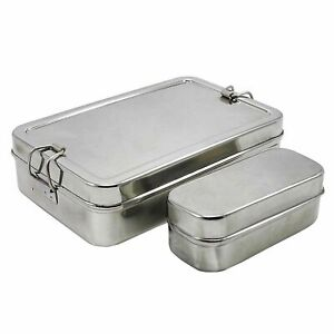Lunch-Box-Stainless-Steel-Tiffin-Box-Rectangular-Carrier-Set-Food-Container