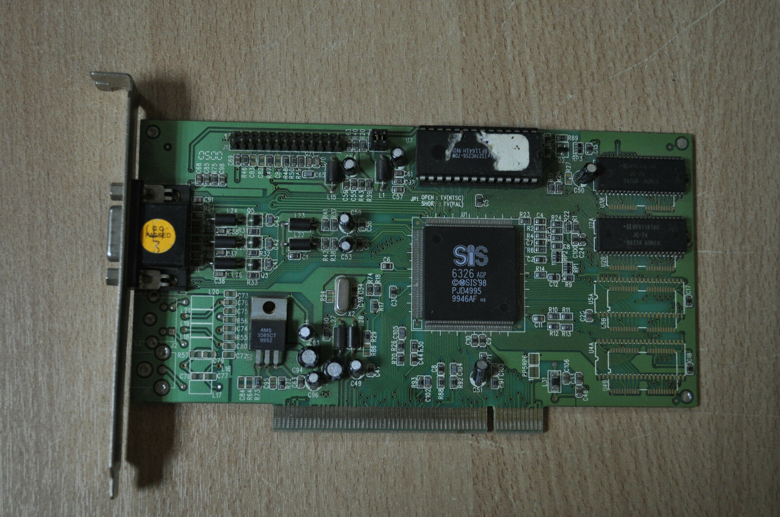 SiS 6326 PCI Video Card, PCI-6326-1-4MB GRAPHICS ADAPTER SIS'98 PJD4995 Working