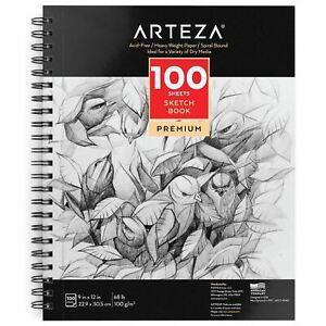 Arteza-Sketchbook-9-034-x-12-034-100-Sheets
