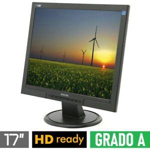 """Bildschirm LCD 17 """" 4:3 Eckig Philips 170S Schwarz Vesa VGA Grad A"""