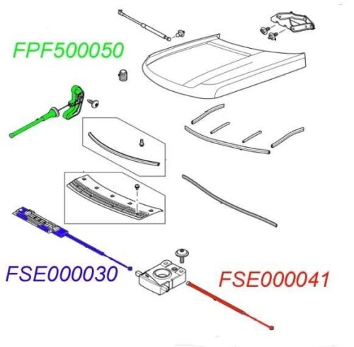 New Hood Release Latch Cable Fits Land Rover Range Rover OE Quality FSE000041