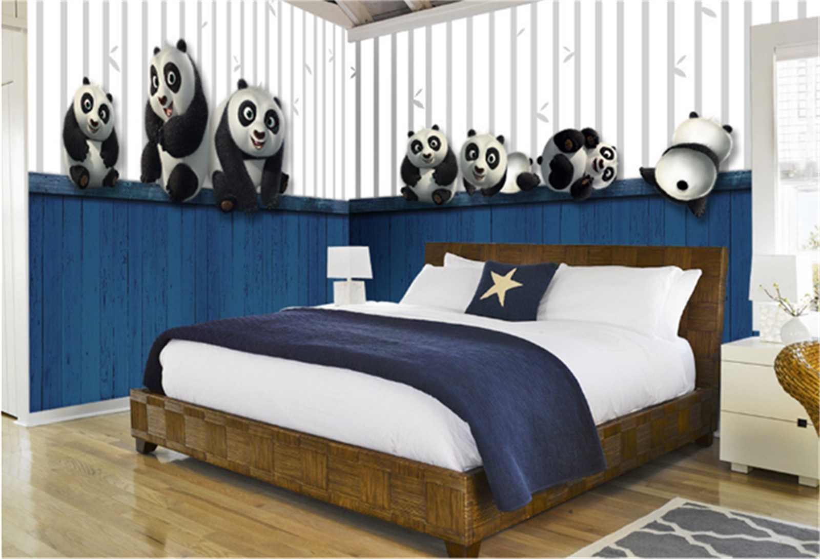 3D Cartoon Panda Kind 78 Tapete Tapeten Mauer Foto Familie Tapete Wandgemälde DE