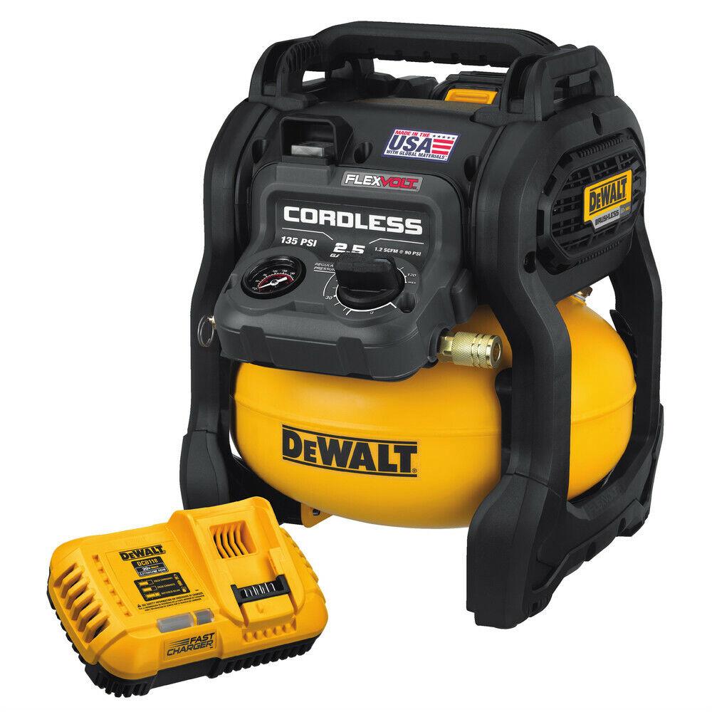 DEWALT DCC2560T1 60V MAX FLEXVOLT 2.5 Gallon Oil-Free Pancake Air Compressor New. Buy it now for 270.85