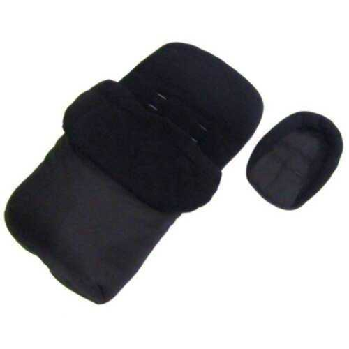 Deluxe 2in1 Universal Black Footmuff /& Headhugger To Fit Silver Cross Zest