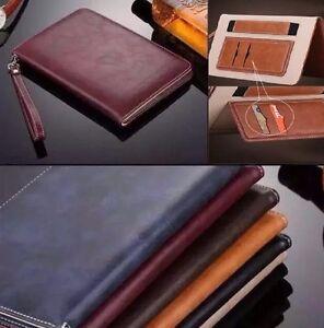 Genuina-Suave-Cuero-Inteligente-Magnetico-De-pie-Estuche-Cubierta-para-Apple-iPad-Air-Air2