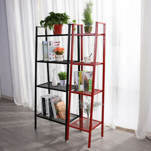 150cm-Ladder-Industrial-Bookshelf-Corner-Bookcase-Shelving-Flower-Display-Rack