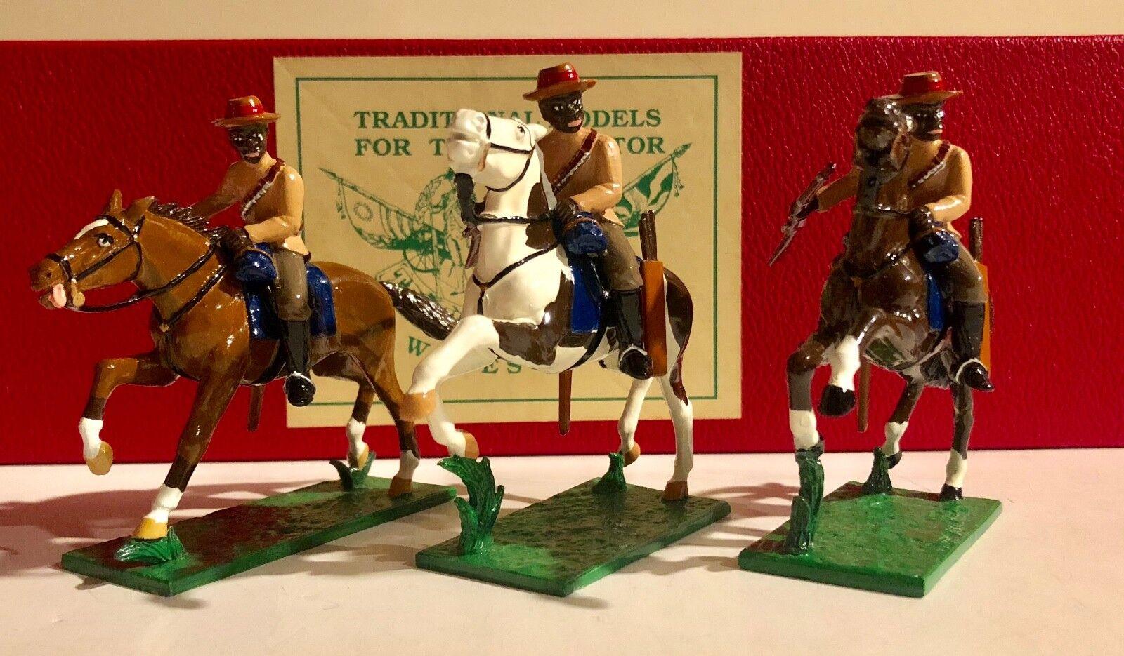 Trophy Miniatures Zulu Wars ZS45 Natal Native Horse Mounted Set RETIRED