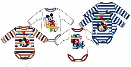 Mickey Mouse Body Baby 56 62 68 74 80 86 langarm Langarmbody Junge Disney Maus