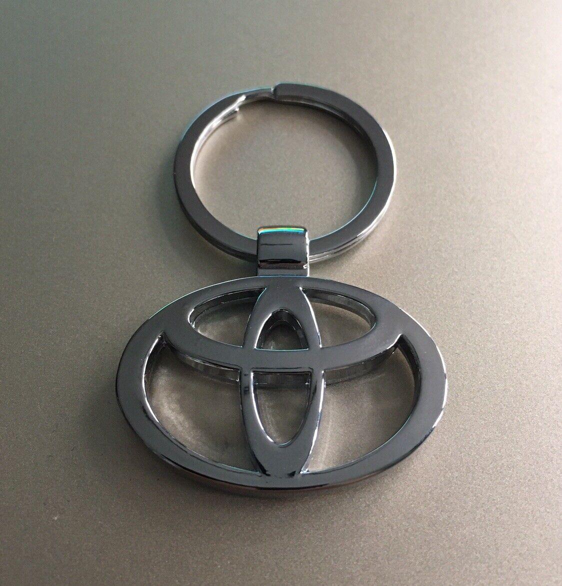 'TOYOTA' Keyring Chrome Keychain Official Logo Silver Key Ring Car Metal Chain