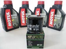 TAGLIANDO OLIO MOTUL 5100 10W-40 + FILTRO per  HONDA CBR1000 RR 2006