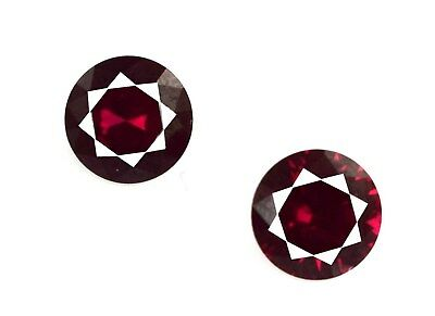 Mozambique Red Ruby 3.90 Ct Natural Gemstone Pair Princess Cut AGSL Certified
