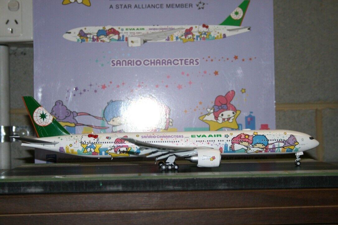 JC Wings 1 200 EVA Air Boeing 777-300ER B-16722  Hello Kitty  XX2060A Flaps Down