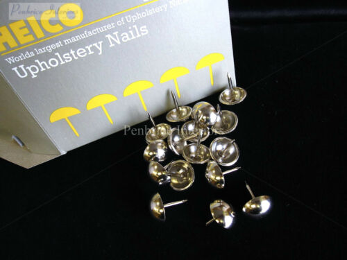 250 Nickel chrome 16mm upholstery nails large tacks Heico H16 furniture studs